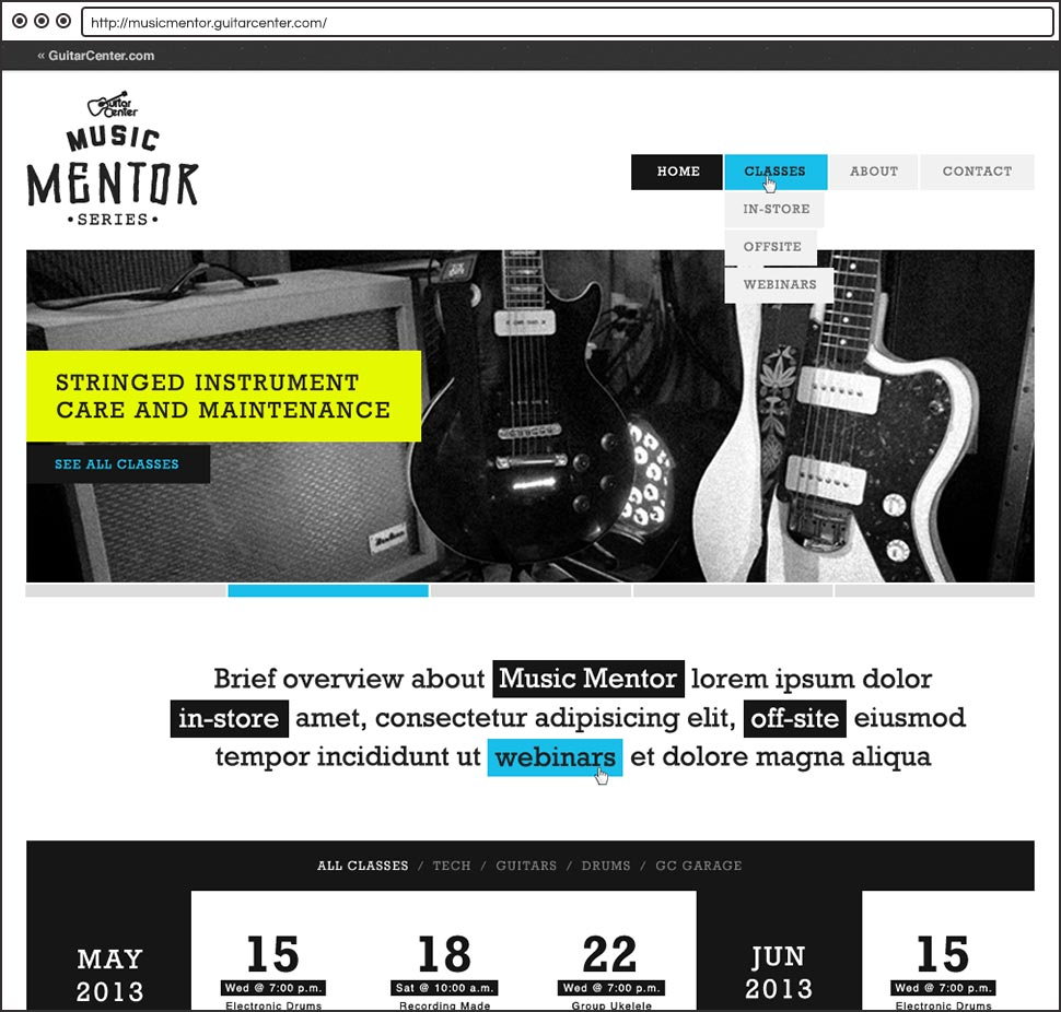 Guitar Center Music Mentor